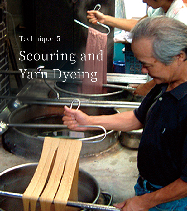Technique 5 Scouring and yarn dyeing