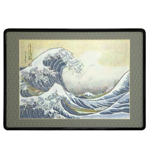西陣織 額装「神奈川沖浪裏 富嶽三十六景」